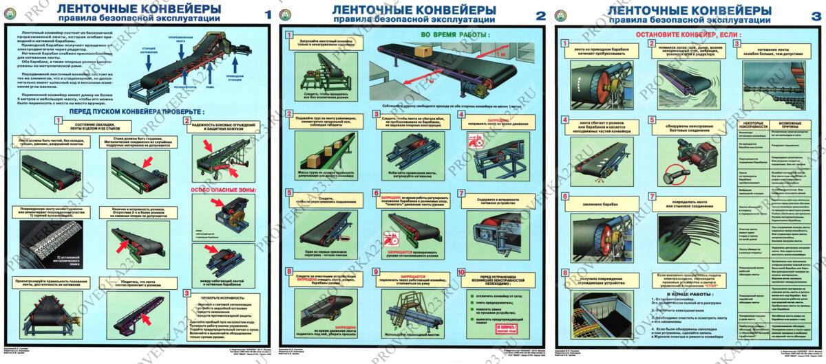 Правила безопасной эксплуатации конвейеров транспортер 14