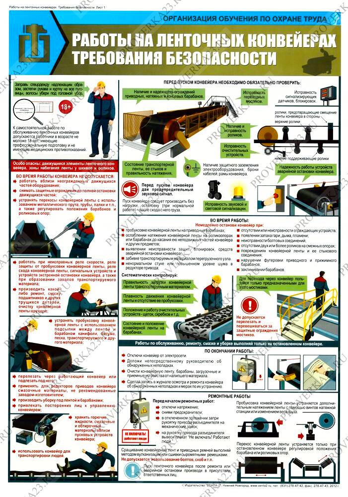 Подготовка конвейера к работе инструмент корневой элеватор